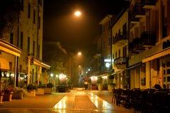 Una notte sulla città calma fotografia stock
