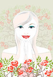 Una novia feliz ilustración del vector