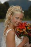 Una novia joven y feliz en amor Fotos de archivo