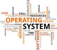 Nube de la palabra - sistema operativo Foto de archivo