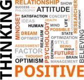 Nube de la palabra - pensamiento positivo Foto de archivo libre de regalías