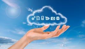 Una nube del almacenamiento stock de ilustración