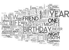 Una nube especial de Nightword del cumpleaños del Th Fotos de archivo libres de regalías