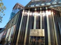 Una nueva tienda de Gucci en Shangai Foto de archivo libre de regalías