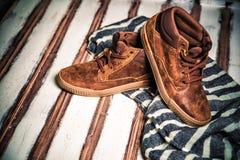 Una nuova collezione di scarpe degli uomini Fotografia Stock Libera da Diritti
