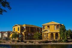 Una nuova costruzione di due case di storia Immagine Stock Libera da Diritti