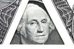 Una nuova fattura in un dollaro americano Fotografie Stock Libere da Diritti