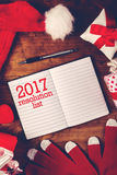 Una nuova nota felice da 2017 anni Immagini Stock Libere da Diritti
