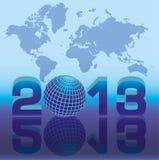 Una nuova scheda da 2013 anni con il globo Fotografia Stock Libera da Diritti