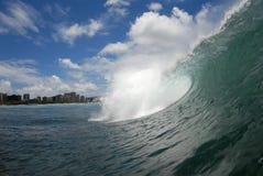 Una onda del embarrilamiento foto de archivo libre de regalías