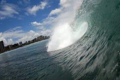 Una onda del embarrilamiento Imagen de archivo libre de regalías