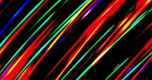 Una onda digital abstracta iluminada de partículas luminosas no claras y de un efecto luminoso de destello Fotografía de archivo libre de regalías