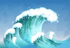 Una onda muy grande Imagen de archivo libre de regalías
