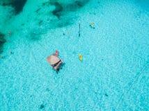 Una opinión aérea Isla Mujeres en Cancun, México imágenes de archivo libres de regalías