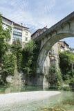 Una opinión Cividale del Friuli fotografía de archivo