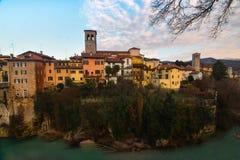 Una opinión Cividale del Friuli, Italia imagen de archivo