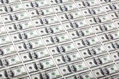 Cientos fondos de los billetes de dólar - diagonal Fotos de archivo