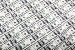 Cientos fondos de los billetes de dólar - diagonal Foto de archivo