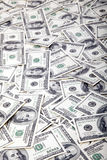Cientos fondos de los billetes de dólar - lío Foto de archivo