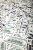 Cientos líos de los billetes de dólar - revés Imágenes de archivo libres de regalías
