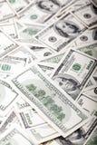 Cientos billetes de dólar ensucian - revés Fotografía de archivo libre de regalías