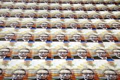 Cientos fondos de las cuentas de los shekels Foto de archivo libre de regalías