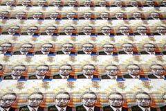 Cientos fondos de las cuentas de los shekels Foto de archivo