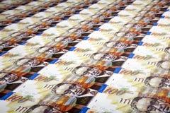 Cientos fondos de las cuentas de los shekels Fotografía de archivo