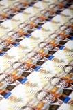 Cientos fondos de las cuentas de los shekels Imagen de archivo