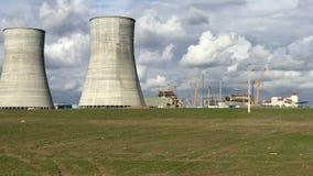 Una opinión de central nuclear Fotografía de archivo
