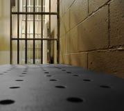 Una opinión de la celda de prisión Foto de archivo libre de regalías