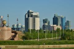 Una opinión de la ciudad en Astaná, Kazajistán fotos de archivo libres de regalías