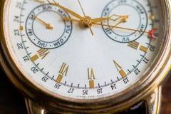 Una opinión de la macro del reloj foto de archivo libre de regalías