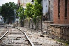 Una opinión del ferrocarril del camino al éxito Foto de archivo libre de regalías