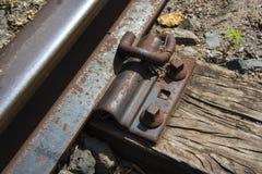 Una opinión del ferrocarril del camino al éxito en una pequeña ciudad Fotos de archivo