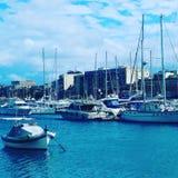 Una opinión del mar en Malta foto de archivo