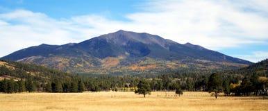 Una opinión del otoño de los picos Foto de archivo