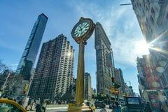 Una opini?n del paisaje del edificio y de los edificios de la plancha que rodean a Madison Square Park fotos de archivo