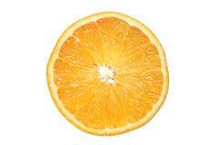 Una opinión seccionada transversalmente la naranja Imagen de archivo
