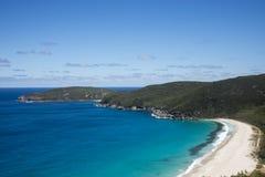 Una opinión Shelley Beach en el parque nacional de Howe del cabo del oeste cerca de Albany Foto de archivo