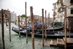 Una opinión sobre Grand Canal en Venecia Foto de archivo libre de regalías
