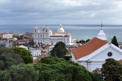 Una opinión sobre Lisboa Foto de archivo libre de regalías
