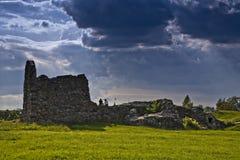 Una opinión sobre ruinas. Foto de archivo
