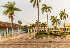Una opinión típica el comandante de la plaza en Trinidad en Cuba fotos de archivo