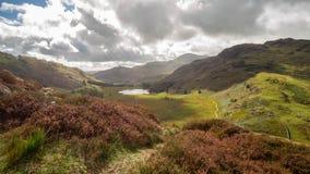 Una opini?n del paisaje de la monta?a en Cumbria fotos de archivo