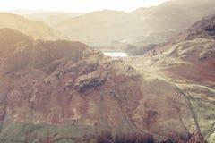 Una opini?n del paisaje del distrito del lago fotografía de archivo libre de regalías