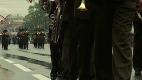 Una orquesta militar almacen de metraje de vídeo