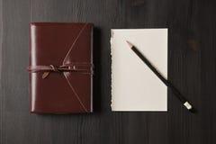Una página de un cuaderno Fotografía de archivo