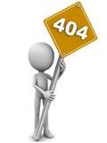 una pagina di 404 errori Fotografie Stock