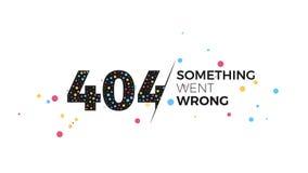 una pagina di 404 errori Immagine Stock Libera da Diritti